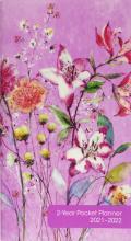2021 Purple Wildflowers 2-Year Pocket Planner