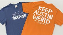 Front & Back: BookPeople Keep Austin Weird Shirt