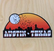 Austin Skyline Sticker
