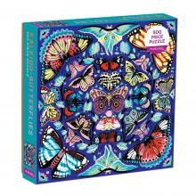 Kaleido-Butterflies 500 Piece Puzzle
