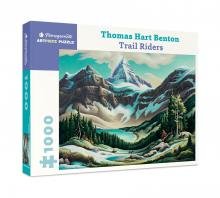 Thomas Hart Benton: Trail Riders 1000-Piece Jigsaw Puzzle